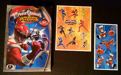 Box of 32 Valentines Day Cards + Stickers POWER RANGERS Operation Overdrive