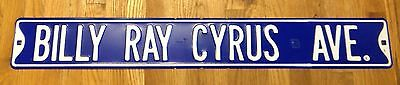 "Billy Ray Cyrus Ave Country Heavy Duty Metal 3 Foot Long 36"" X 6"" Street Sign"