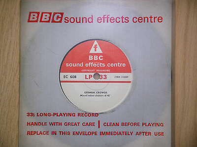 "BBC Sound Effects 7"" Record - German Crowds, Deutsche Massen, Large Store, EC60B"