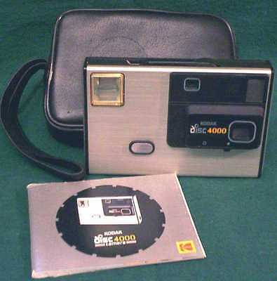 Vintage Kodak Disc 4000 Camera with Instruction Booklet and Case - UNTESTED