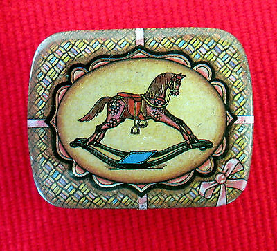 Lot of 2 Tins Dodo Designs Rocking Horse & Nalco Black Currant Pastilles lsc7
