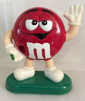 "Big Red M&M Candy Dispenser Mars Inc. 8""  Vintage ?"