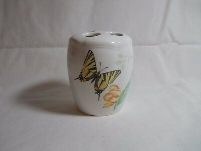 Lenox Butterfly Meadow Toothbrush Holder Excellent