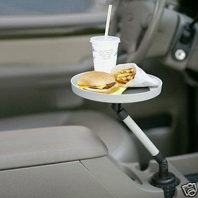 Newly Swivel Tray Car Truck Food Snacks Pen Paper Change Cup Holder