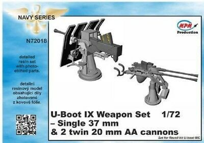 MPM CMK N72018 Weapon Set for Revell® U-Boot IX in 1:72