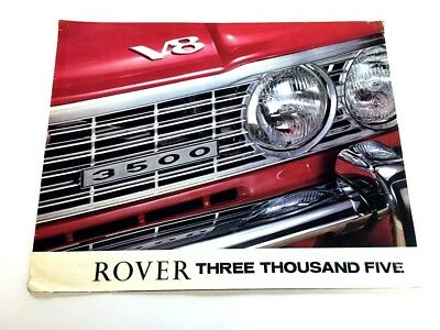 1969 Rover Three Thousand Five South African Original Car Sales Brochure - 3500