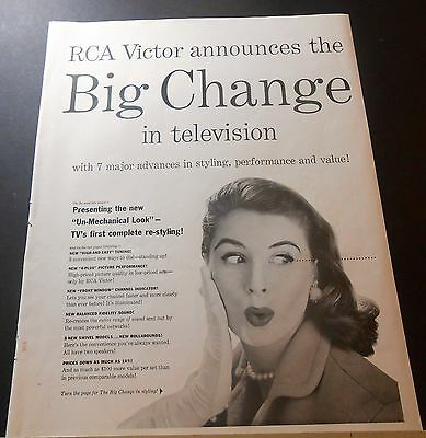 1955 RCA announces BIG CHANGE in TELEVISION vintage print Ad 5 pages many models