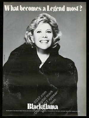 1984 Dinah Shore photo Blackglama fur fashion vintage print ad