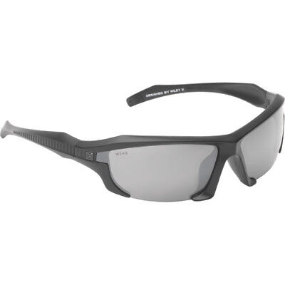 5.11 Tactical Burner Half Frame Unisex Sunglasses - Black Flame Mirror Lense