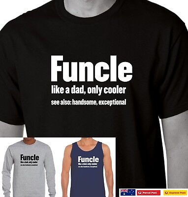 35f27fa42 Funcle T-Shirt Definition Funny Gift For Uncle Like A Dad But Way Cooler  mens