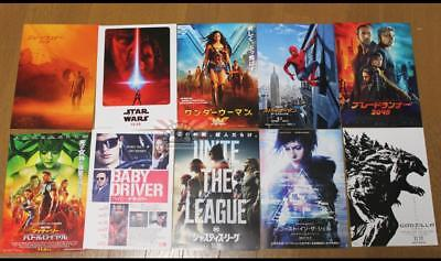 Set of 10 2017 Japan Movie Chirashi B5 Mini Posters Star Wars Justice League