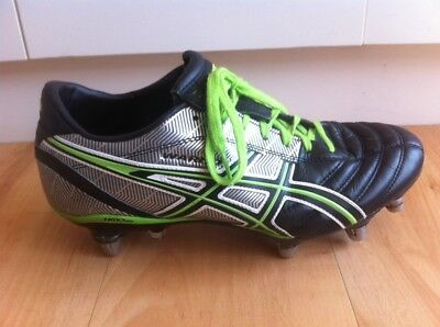 ASICS Rugby Union Boots Mens US Size 8 Metal Studs Lethal Warno Football Black