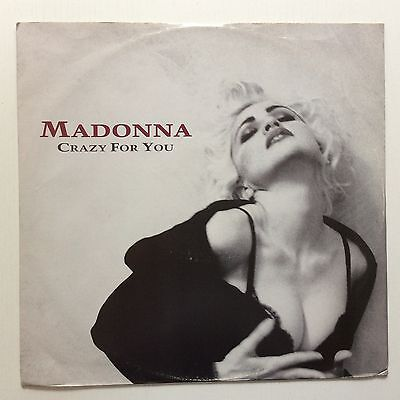 "Madonna 'crazy For You' 1990 Orig Uk Press 12"" Single Ex Min Play P/s"
