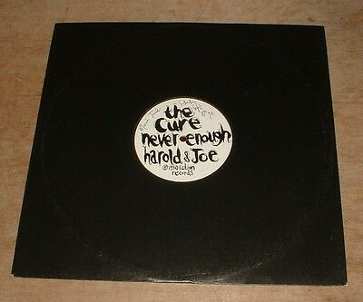 """THE CURE never enough*harold & joe*lets go to bed 1990 UK FICTION PROMO 12"""""""