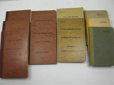Lot Collection of 10 Railroad Train Rules Instructions Books Early 1900's