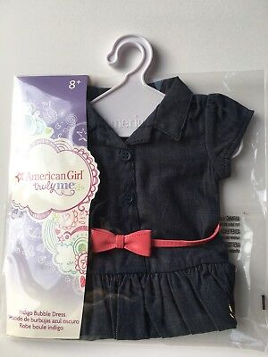 "AMERICAN GIRL 18"" DRESS Indigo Bubble Belt with Hanger for doll - NEW IN BAG NIB"