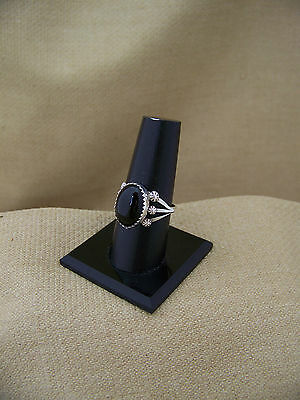 Vintage Sterlilng Silver  Navajo Type Ring with Onyx