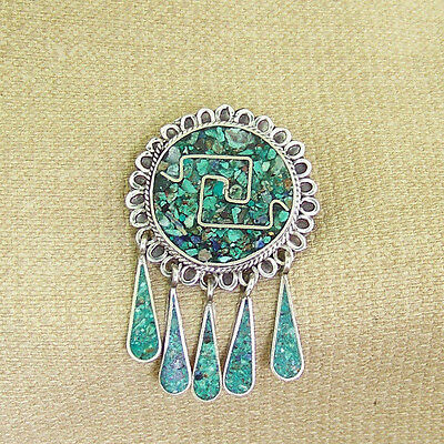 Sterling Taxco Pendant / Pin  Signed Carlos