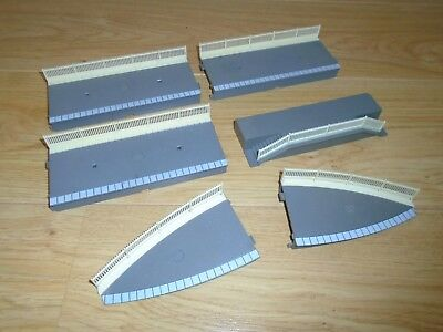 Collection of Platform Sections with Fencing for Hornby OO Gauge Train Sets