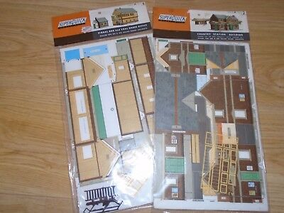 Pair of Unmade SuperQuick Buildings for Hornby OO Gauge Sets