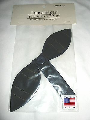 Longaberger Collectors Club Fabric Handle Bow Tie - Member Stripe - New
