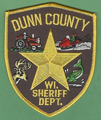 Dunn County Sheriff Wisconsin Police Patch