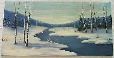 large oil painting of black hills ,SD winter scene by lyle Wagner