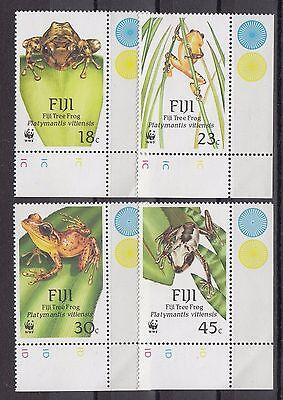 Timbre Stamp  4 Iles Fidji  Y&t#587-90 Grenouille Frog Neuf**/mnh-Mint 1988 ~A39