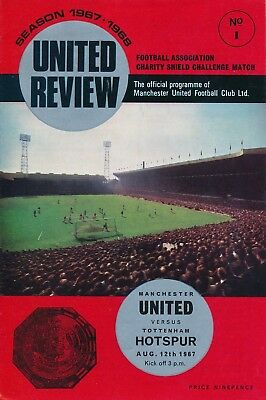 FA CHARITY SHIELD 1967 Man Utd v Tottenham - slightly creased