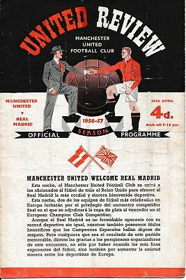 EUROPEAN CUP SEMI FINAL 1957: Man Utd v Real Madrid - creased
