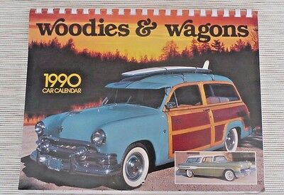 Vintage woodies and wagons 1990 Calendar Station Wagon Ford Chevy