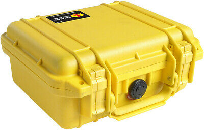 Yellow Pelican 1200 Case NF empty includes Your FREE Custom Engraved Nameplate