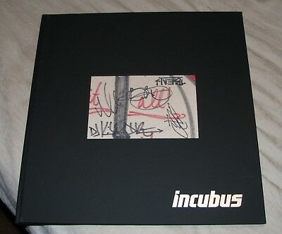 *RARE* INCUBUS HQ LIVE 2011 Signed Autograph Photo Book from Rare Set
