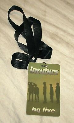 *RARE* INCUBUS HQ LIVE 2011 Backstage Pass from Set