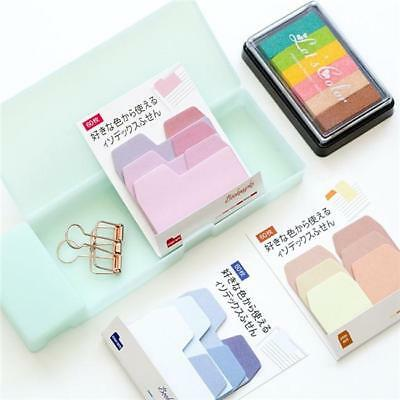 Gradient Color Sticker Post-It Bookmark Marker Memo Index Tab Sticky Notes LG