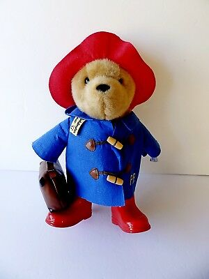 "Harrods ~ Vintage 15"" Paddington Bear ~ Stuffed Plush Animal ~ with Tags ~"