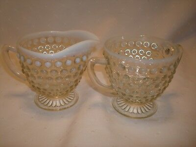 Moonstone Cream & Sugar Set Anchor Hocking 1941 - 46