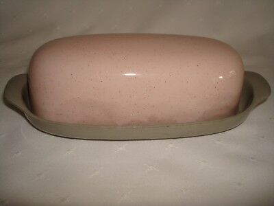 Harker Ware Pink Speckle Covered Butter Dish