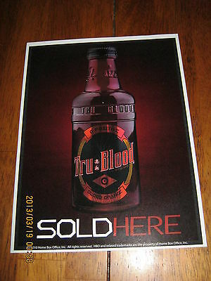 True Blood Sold Here Store Window Sticker 2010 HBO Collectible