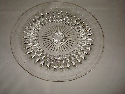 """Indiana Glass Diamond Point Large Serving Plate 12"""""""