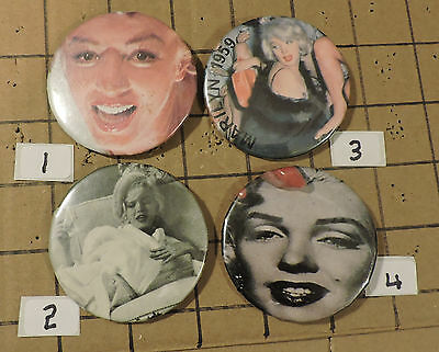 Choose from 24 MARILYN MONROOE PINBACK BUTTONS PINS LOT#P11