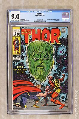 Thor (1962-1996 1st Series Journey Into Mystery) #164 CGC 9.0 0306257003