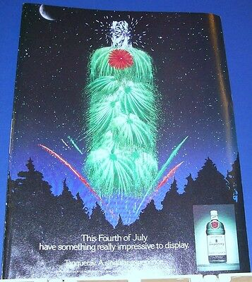 1990 Tanqueray English Gin 4th Fourth of July Ad