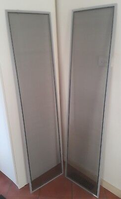 Pair of Fly screens Flyscreens 405 x 1580 Aluminium great cond pickup Mitcham