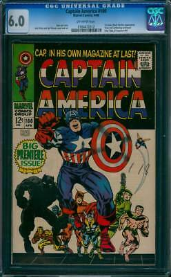 Captain America # 100  First solo Silver Age Issue !   CGC 6.0 scarce book !