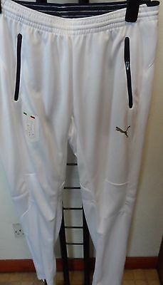 Italy 2016/17 White Training Pants By Puma Size Adults Medium Brand New