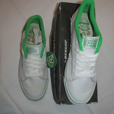 Vintage DUNLOP Green Flash trainers  - 7.5 uk