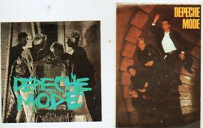 DEPECHE MODE x 2 vintage stickers from the 80's