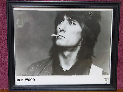 Ron Wood Rolling Stones Guitarist Vintage 8x10 Glossy Columbia Promo Photograph