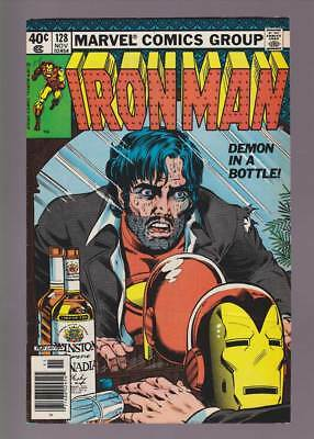 Iron Man # 128  Demon in a Bottle Classic cover !  grade 7.5 scarce book !
